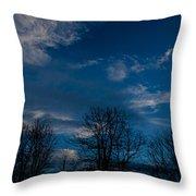 Rogue Valley Winter Eve Throw Pillow