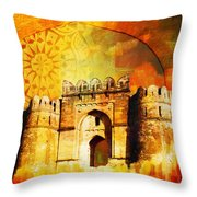 Rohtas Fort 00 Throw Pillow