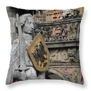 Roland Of Bremen Throw Pillow