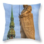 Roland Of Riga Painting Throw Pillow