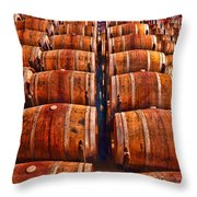 Roll Out The Barrel Throw Pillow