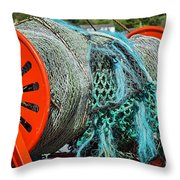 Rolled-up Nets Throw Pillow