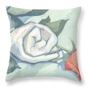 Rolled Up Rise And Cloth Throw Pillow
