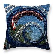 Roller Coaster 2 Throw Pillow