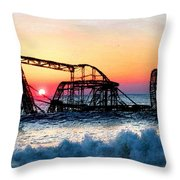 Roller Coaster After Sandy Throw Pillow by Tony Rubino
