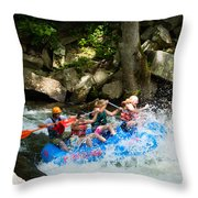 Roller Coaster Of Rafting Throw Pillow