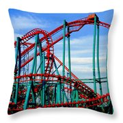 Roller Coaster Painting Throw Pillow