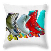 Roller Skates Throw Pillow