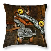 Roller Skates Vintage 4 Throw Pillow