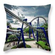 Rollercoaster Amusement Park Ride Throw Pillow
