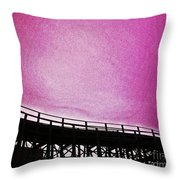 Rollercoaster In Pink Throw Pillow