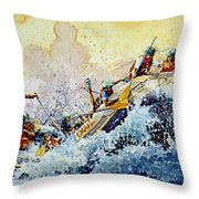 Rollin' Down The River Throw Pillow