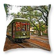Rollin' Thru New Orleans Throw Pillow