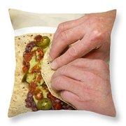 Rolling A Vegetarian Wrap Throw Pillow