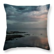 Rolling By Like Thunder Throw Pillow