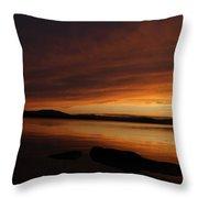 Rolling Cloud Sunset  Throw Pillow