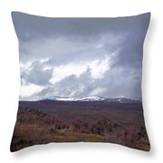 Rolling Clouds- Rolling Hills Throw Pillow