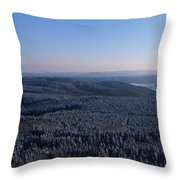 Rolling Hills And Forests Throw Pillow