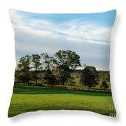 Rolling Hills Near Marriot Ranch Throw Pillow