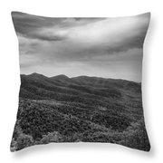 Rolling Hills Of North Carolina Throw Pillow