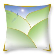 Rolling Hills - When The Skies Are Blue Throw Pillow