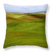 Rolling Idaho Farmland Throw Pillow