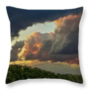 Storm Clouds Rolling In Throw Pillow