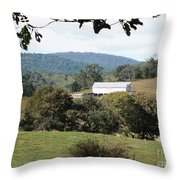 Rolling Landscape Throw Pillow
