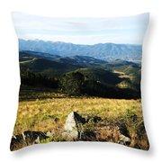 Rolling Mountain Morning Throw Pillow