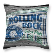 Rolling Rock Throw Pillow