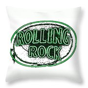 Rolling Rock Lager Throw Pillow