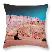 Rolling Rockin' Roger Throw Pillow