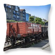 Rolling Stock Throw Pillow