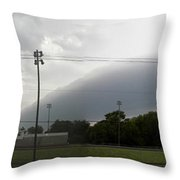 Rolling Storm Throw Pillow