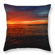 Rolling Sunrise Colors Throw Pillow