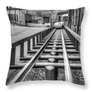Rolling The Barrels In Monochrome Throw Pillow