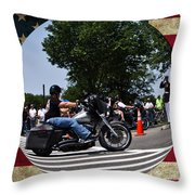 Rolling Thunder Salute Throw Pillow