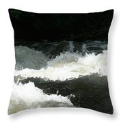 Rolling White Water Throw Pillow