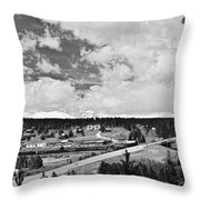 Rollinsville Colorado Small Town 181 In Black And White Throw Pillow