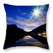 Rollinsville Yacht Club Fireworks Private Show 52 Throw Pillow