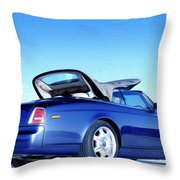 Rolls Royce 6 Throw Pillow