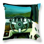 Rolls Royce 8 Throw Pillow