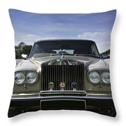 Rolls Royce Corniche 1980 Throw Pillow