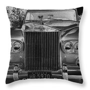 Rolls Royce Grill Throw Pillow