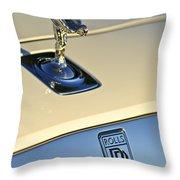 Rolls-royce Hood Ornament 3 Throw Pillow by Jill Reger