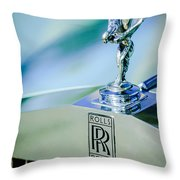 Rolls-royce Hood Ornament -782c Throw Pillow