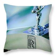 Rolls-royce Hood Ornament -782c Throw Pillow