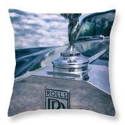 Rolls Royce Mascot Throw Pillow