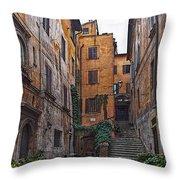 Roman Backyard Throw Pillow