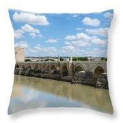 Roman Bridge Of Cordoba Throw Pillow